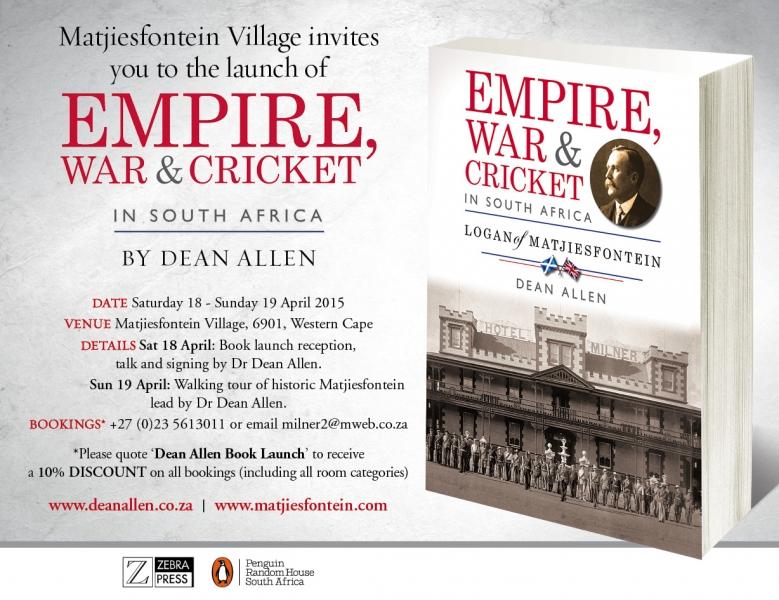 Cricket Tournament Anouncment Wording: Empire, War & Cricket In South Africa